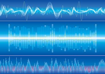 Dynamic Audio Waves 03 Vector