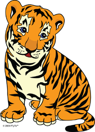 Cute Little Tiger Vector