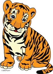 Vetor de tigre pequeno bonito