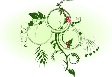 Vector verde dinámico de la vid
