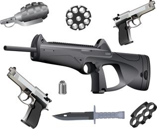 Pistolas y municiones vectoriales