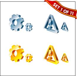 Vetor de textura de cristal 3D