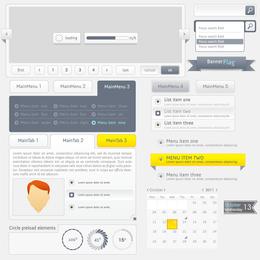 Diseño Web Navegación Menú 03 Vector
