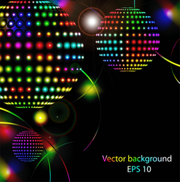 Vetor de luzes de néon brilhante estrela