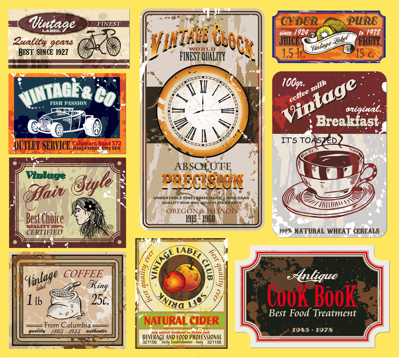 Vintage Wine Label Collection 01 Vector - Vector Download
