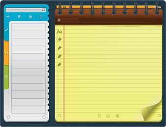 Beautiful Vector 4 Notepad
