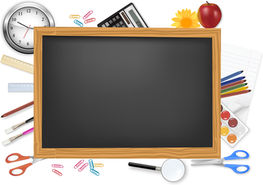 School Supplies And Stationery Vector