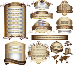 Europeanstyle Restaurant Information Template Vector