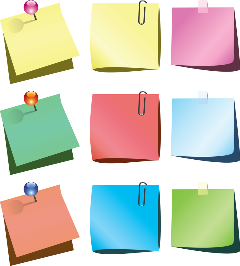 Isolated Colorful Post It Set Vector Download