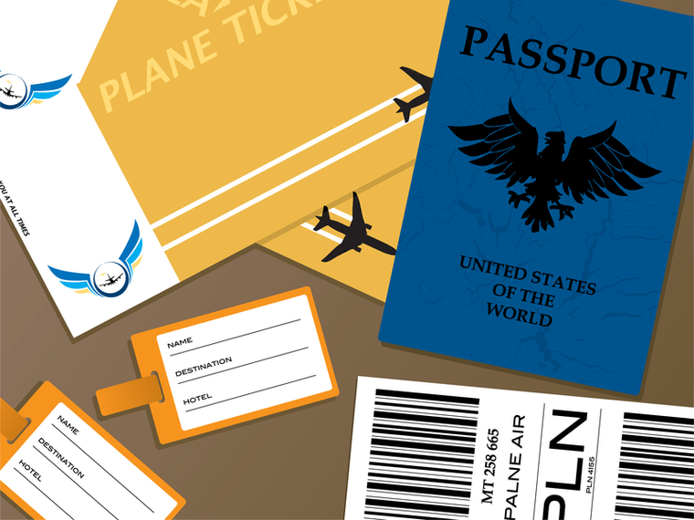Passport Documents Vector