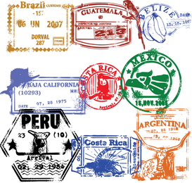 Passport Stamp Seal 02 Vector