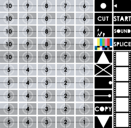Tv prueba de pantalla vectorial