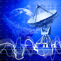 Vetor de receptor de satélite impressionante
