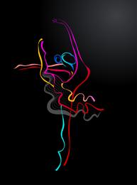 Cor dança 04 vector