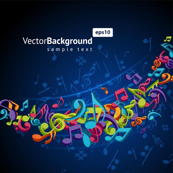 Color Music Key Symbols 02 Vector Vector Download