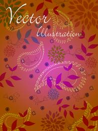 Vector Natural Ilustración Línea Draft 02 Vector