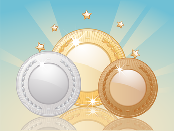 Gold And Silver Bronze Vector