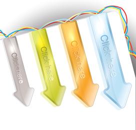 Textura cristalina de las flechas de colores 01 Vector