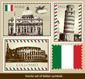 Italien Frankreich Großbritannien Vector