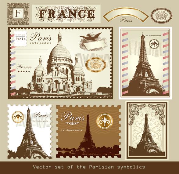 Paris France Vector 1