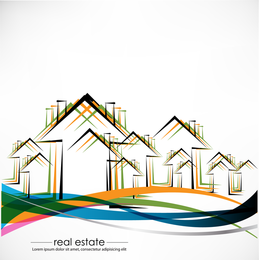 Construction And Real Estate Simple Pen Drawing 01 Vector