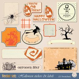 Halloween Tag 01 Vector