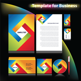 4 Sets Of Dynamic Enterprise Vi Template Vector