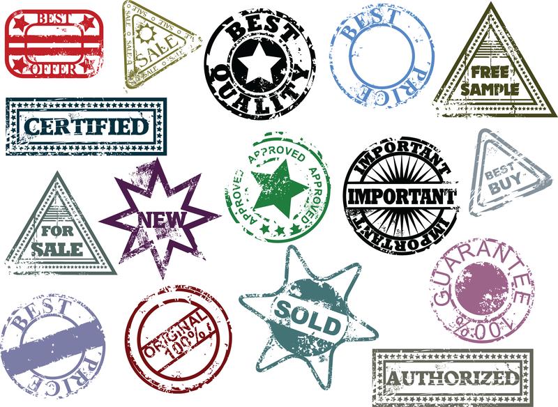 los vectores de color para hacer el viejo sello