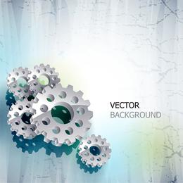 Delicate Gear Vector