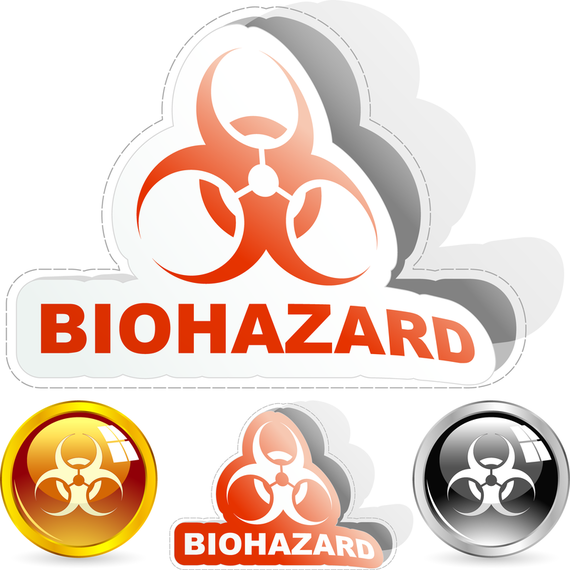 Conjunto de iconos de etiqueta de riesgo biológico