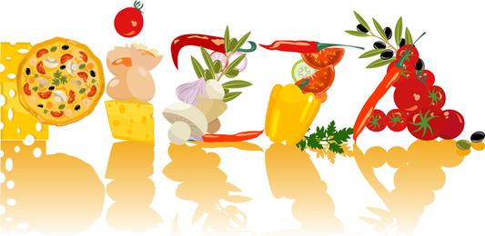 Chefs y comida clip art