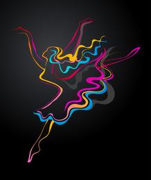 Cor dança 01 vector