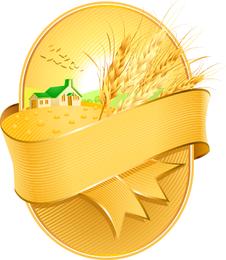 Vetor de tema de trigo