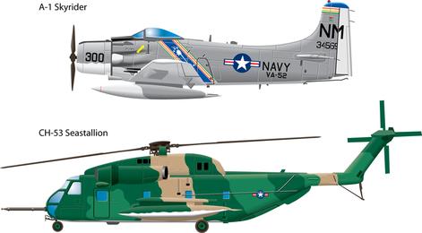 Vetor de aeronaves militares