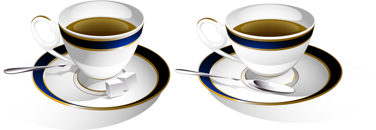 Un par de imágenes prediseñadas de la taza de café