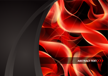 Roter Rauch-Flammen-Vektor-Clip 9