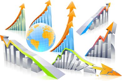 Vetor de tabela de estatísticas de negócios