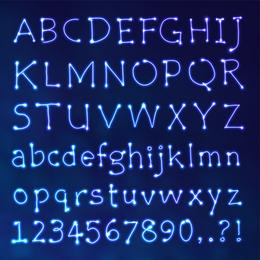 Star Design Series 09 Letras De Vetor