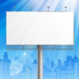 Outdoor Advertising Billboard Model 03 Vector