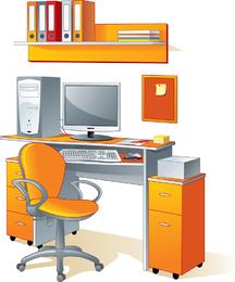 Suministros de oficina papelería vector