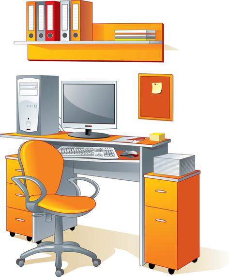 Oficina art culos de oficina del vector descargar vector for Articulos para oficina