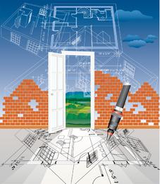 Serie arquitectónica de vectores 7