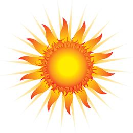 Schöne Sonne Vektor