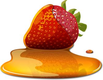 Sweet Strawberry Jam 01 Vector