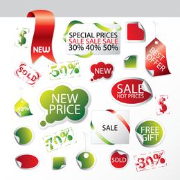 Promoción de ventas etiqueta vectorial