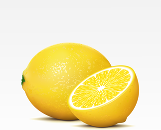 Hyper realistic 3D lemon