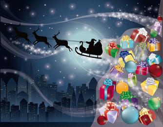 Vektor-Weihnachtsmann-Geschenke