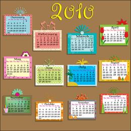 Vector Lovely 2010 Calendar