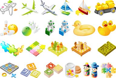 El tercer vector de juguetes para niños