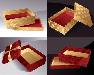 Hermosa caja de regalo Vector 3
